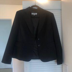 Black striped blazer